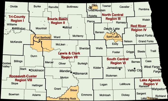 About North Dakota Geographies North Dakota Compass - Map of nd